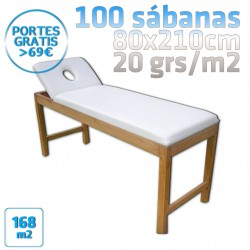 Sábanas desechables para camillas 100 80x210 20grs