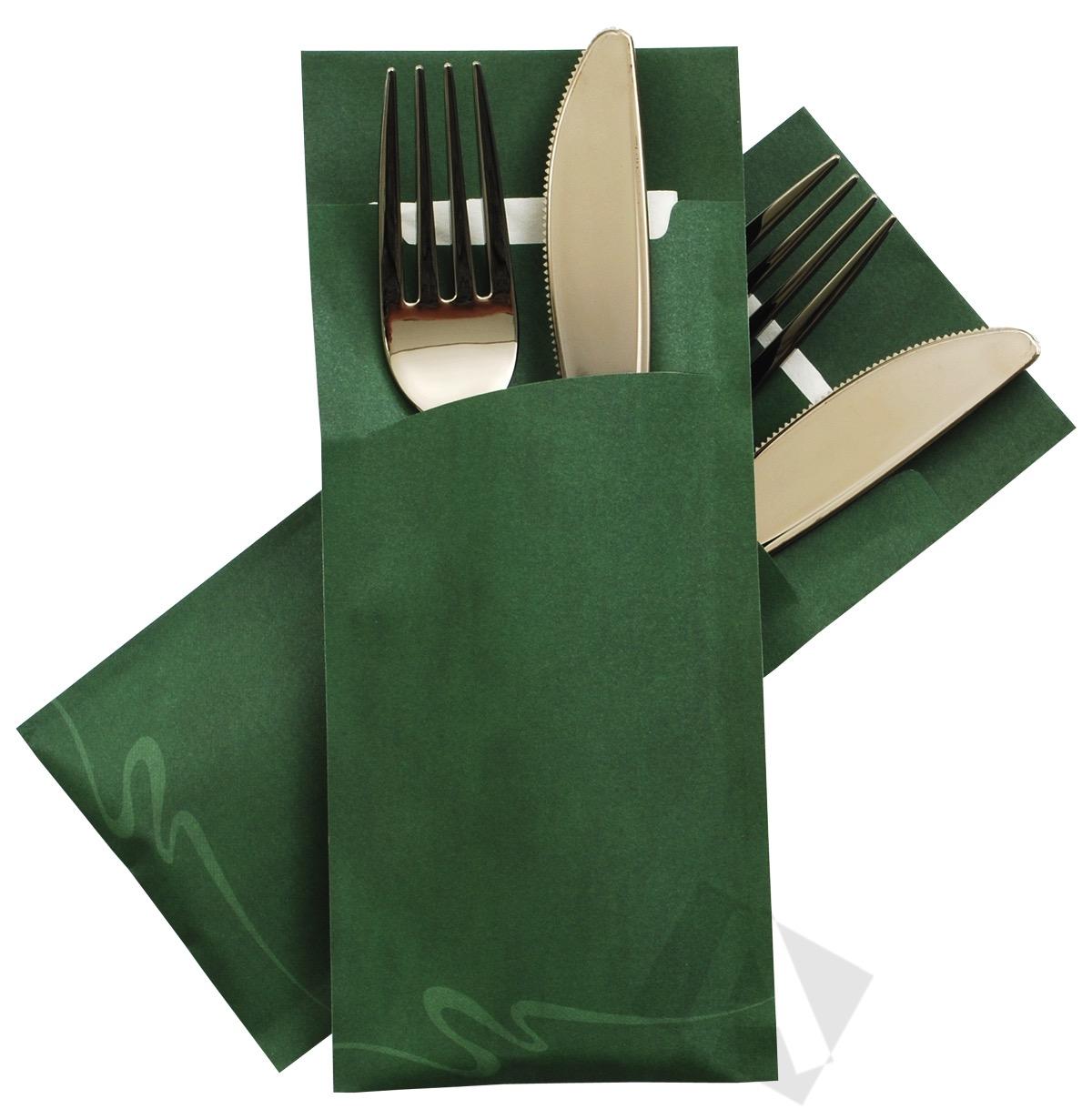 porta cubiertos Verde