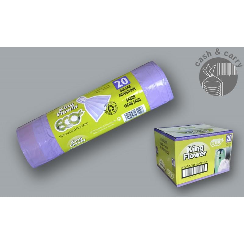 22402 Bolsa de basura Violeta cubo 30-32L Resistencia 5 300 unidades