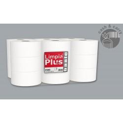 Papel Higiénico Industrial ref 91202 18 rollos Pasta Pura Laminado 92m 300grs
