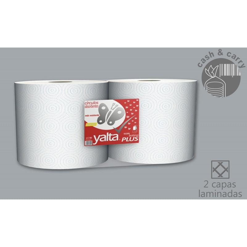 93209 Bobina de Papel Industrial 2,27kg 2 uds Pasta pura laminada círculos 8436562970512