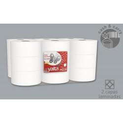 Papel Higiénico Industrial Yalta Plus ref 91201 18 rollos Pasta Pura Laminado 78m 240grs