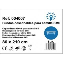 100 sábanas desechables para camilla SMS 80x210cm 20grs color Blanco