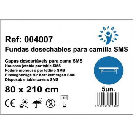 sábanas Ajustables para camilla SMS 80x210cm