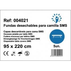 100 sábanas desechables para camilla SMS 95x220 20grs color Blanco