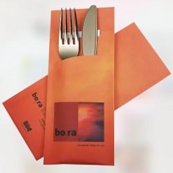 ejemplo Funda Portacubiertos 200*85mm personalizadas a todo color con Servilletas
