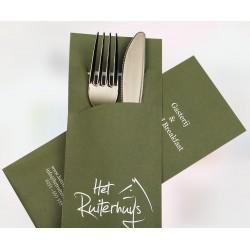 Fundas de papel Portacubiertos 200*85mm personalizadas a todo color con Servilletas