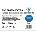 100 sábanas ajustables desechables 80x210cm 40grs EXTRA color Blanco