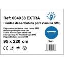 100 sábanas ajustables para camilla SMS PREMIUM EXTRA 95x220 40grs color Blanco