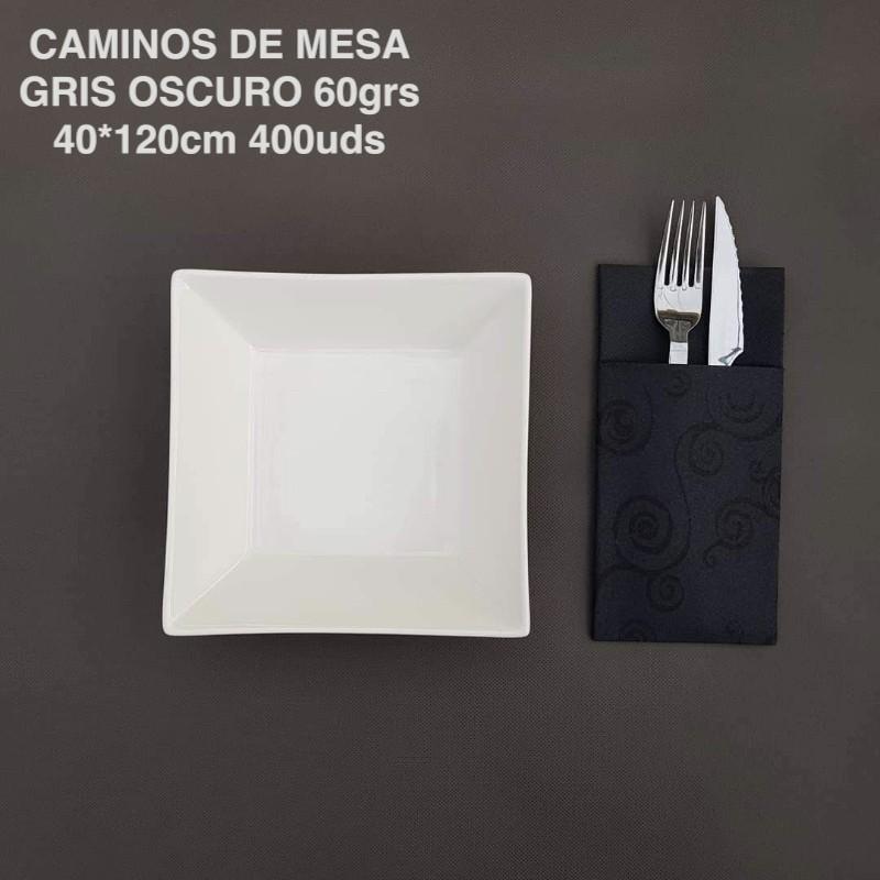 Caminos de Mesa desechables Gris Oscuro 40x120cm. 100% Polipropileno