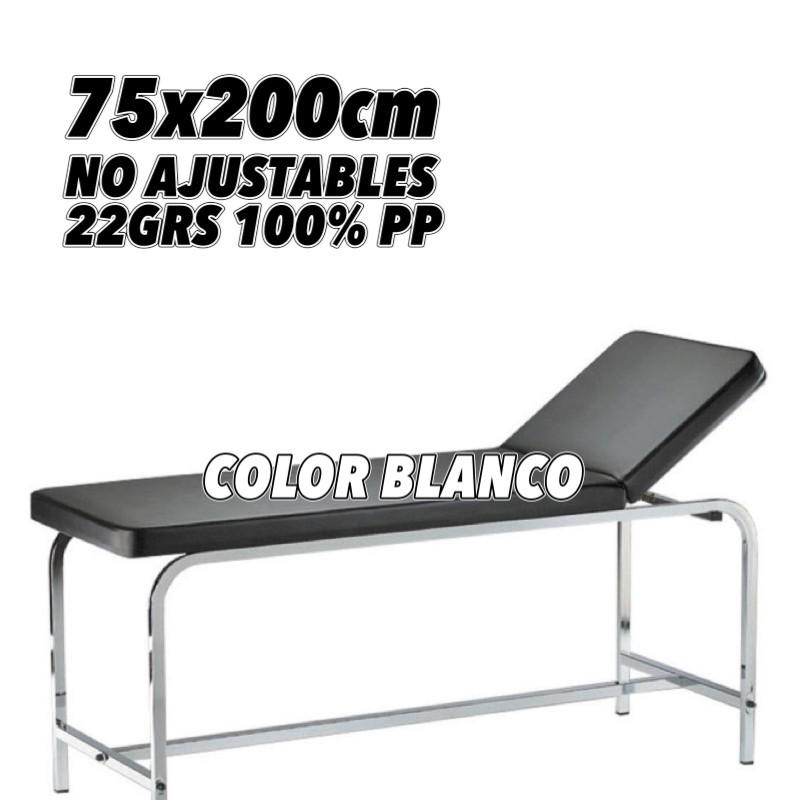 Sábana no ajustable blanca 75x200cm embolsado unitario 22grs caja de 100 unidades