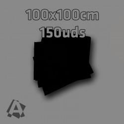 Manteles Negros Imitex 1 x 1 m 150 uds 50grs Polipropileno