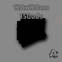 Manteles Negros Imitex 1,20 x 1,20 m 150 uds 50grs Polipropileno