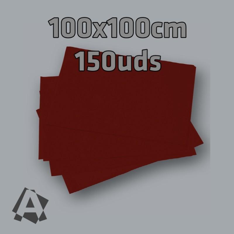 Mantel Imitex Burdeos 100x100cm 150 unidades referencia 32000. Polipropileno 100% 50grs/m2