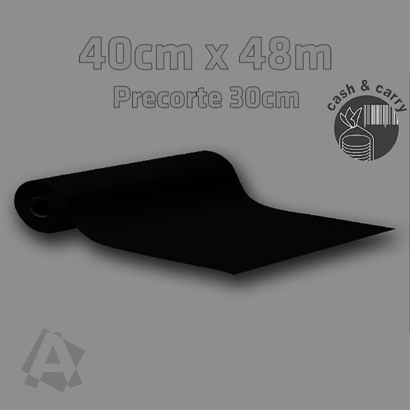 Rollo Camino Imitex Negro 40cm x 48m con precorte cada 0,30m