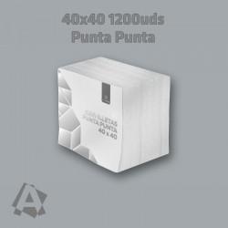Servilletas Blancas 40X40  2 capas Punta Punta ref 12880 8436562971601