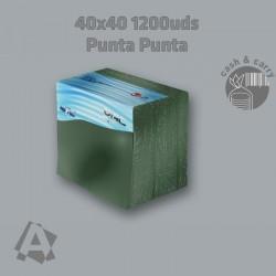 Servilletas Verde Oscuro 40X40  2 capas Punta Punta ref 12887
