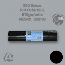 22211 Bolsas de Basura Negras extra cubo de 100L 300 uds.