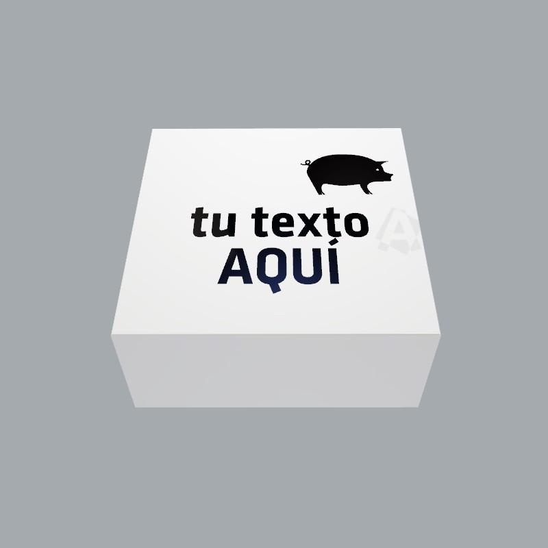 Servilletas blancas 20x20 personalizadas con logo a 1 tinta envío gratis