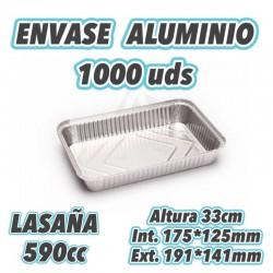 Envase aluminio Lasaña 590cc