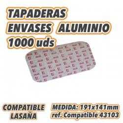 TAPA ENVASE ALUMINIO LASAÑA compatible ref 43103 1000uds