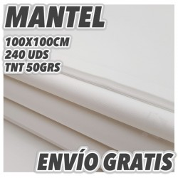 240 Manteles desechables 100x100cm Blanco con envío Gratuito
