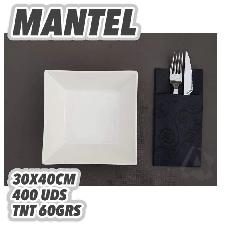 manteles 30x40cm GRIS OSCURO 60GRS