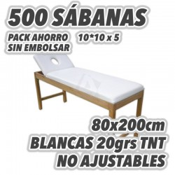 Pack ahorro 500 Sábanas NO AJUSTABLES 80x200cm 20grs/m2