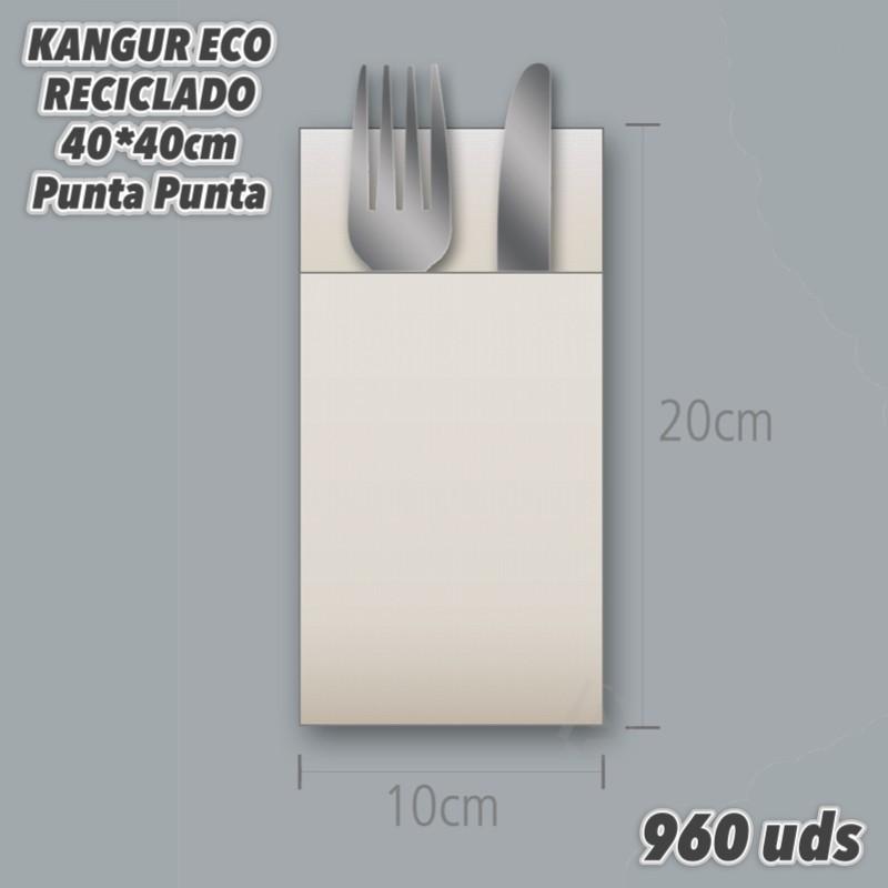 12861 funda portacubiertos Natur-Eco reciclada 40x40 960uds