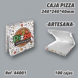 CAJAS DE CARTÓN PARA PIZZAS MEDIDA 240x240x40 100u REF. 44001