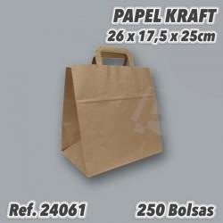 Bolsa de Papel Kraft con Asas para comida para llevar ref 24061