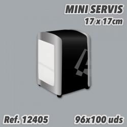 Miniservis SIN IMPRESIÓN 17x17 1 capa Sulfito 19grs/m2 96x100 12405