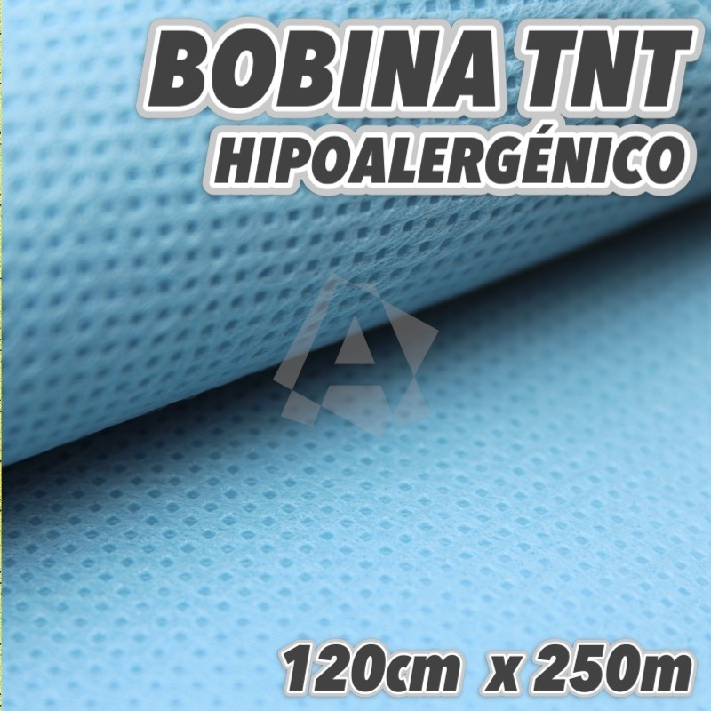 Bobina de Polipropileno Spunbond TNT 50grs 250m color Celeste