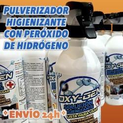 botes de litro de peróxido de hidrógeno y cloruro de benzalconio