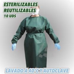 Batas de protección reutilizables y esterilizables.