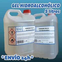 Gel Hidro Alcohólico en Garrafa de 5 Litros envío urgente