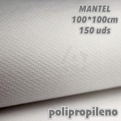 Manteles color BLANCO TNT Imitex 1 x 1 m 150 uds 50grs Polipropileno