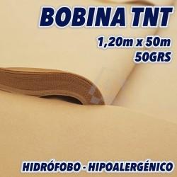 Bobina de polipropileno 50grs/m2 120cm x 50m color Beige 60m2