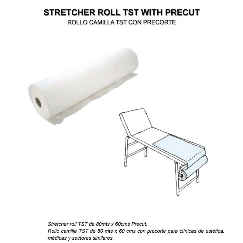 Rollo para camilla de TNT polipropileno 100% 20grs/m2 blanco con precorte cada 40cm