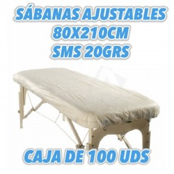 Fundas para camilla en SMS 20grs medida 80x210cm 100uds