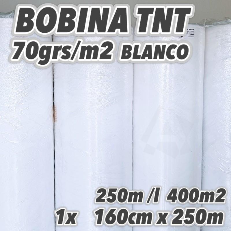 Bobina No tejido 70grs/m2 160cm x 250m BLANCO