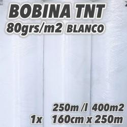 Bobina No tejido 80grs/m2 160cm x 250m BLANCO