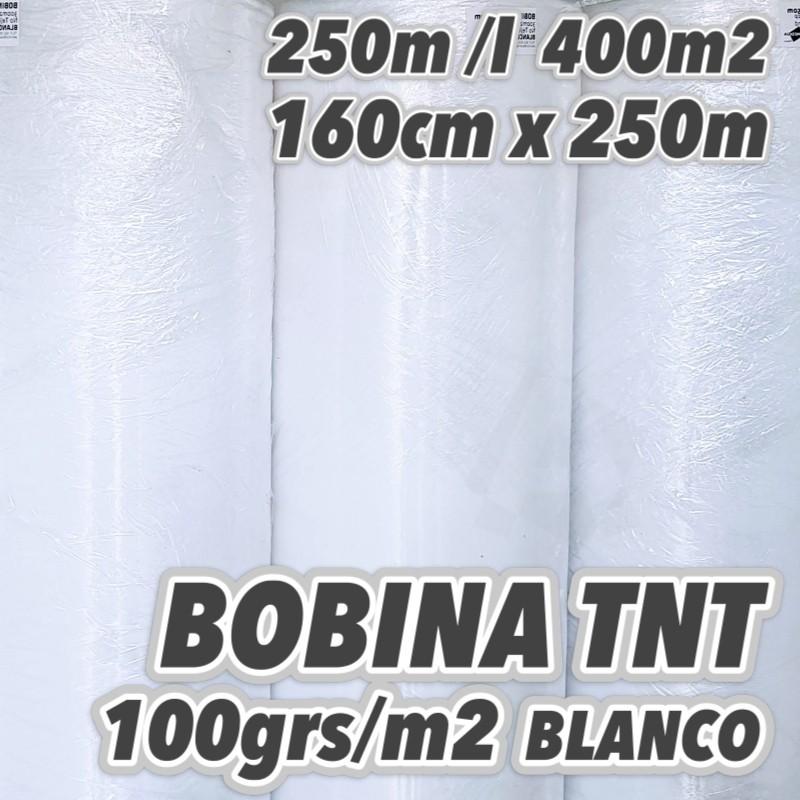 Bobina No tejido 100grs/m2 160cm x 250m BLANCO
