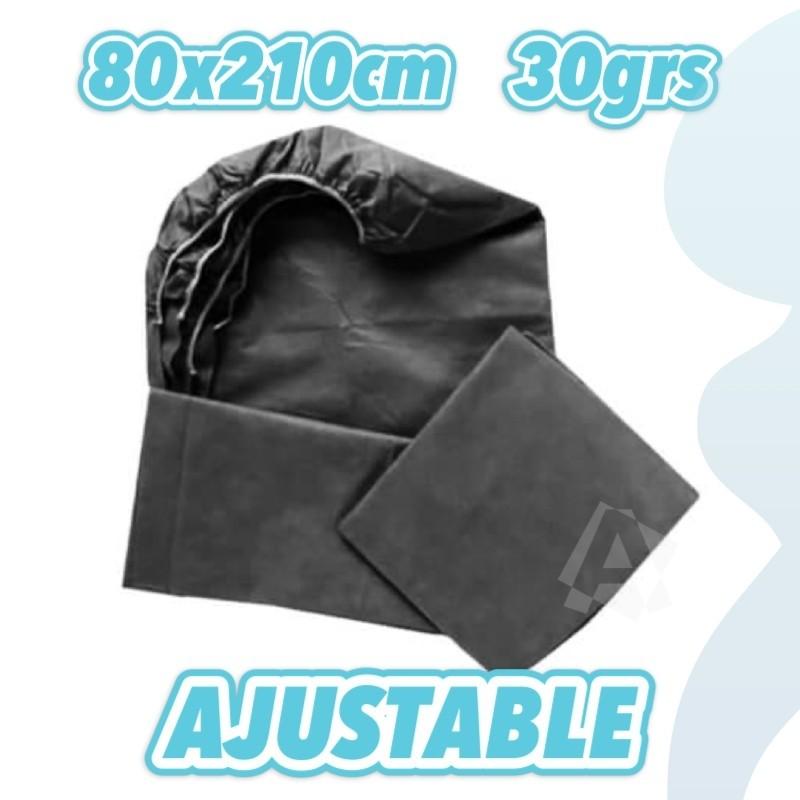 sábanas ajustables negras 30grs 80x210cm envío urgente