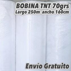 Bobina TNT 70grs/m2 160cm x 250m BLANCO