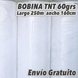 Bobina TNT 60grs/m2 160cm x 250m BLANCO