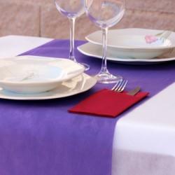 500 caminos de mesa color violeta medida 40x120cm