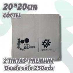 Servilletas de Cóctel personalizadas 2 colores calidad Punta punta, Express