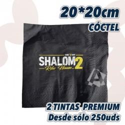 Servilleta de Cóctel Colores 20x20 2 hojas a 2 tintas URGENTE desde solo 250uds y envío gratuito