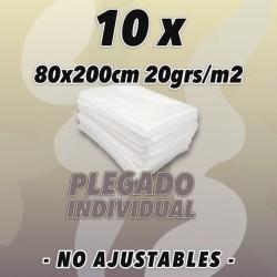 10 Sábanas 80x200cm no...